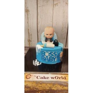 Baby Boss Theme  Fondant Cake