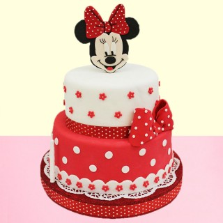 Minnie Mouse Cartoon Fondant Cake