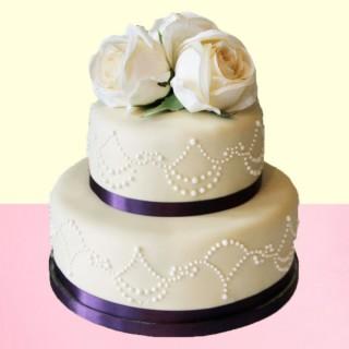 Rosy Delight Fondant Cake