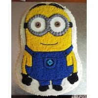 Minion Shaped Cake
