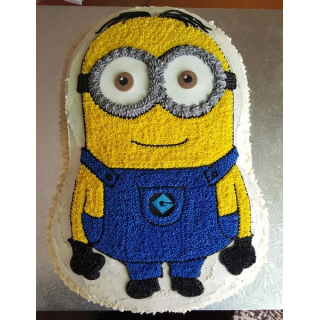 Minion Shaped Cake