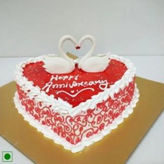 Swan Heartin Valentine Cake