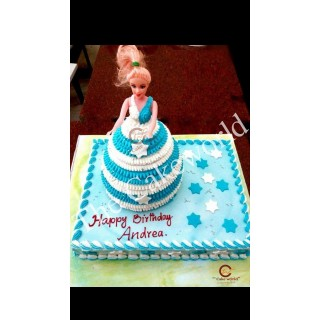 Barbie Doll Cake 014