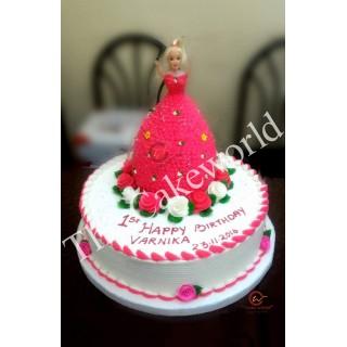 Barbie Doll Cake 017