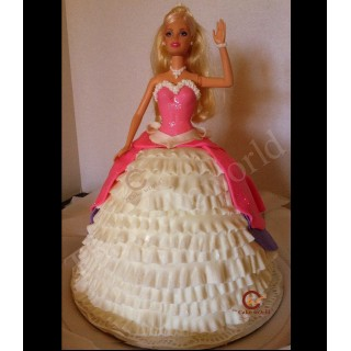 Barbie Doll Cake 004