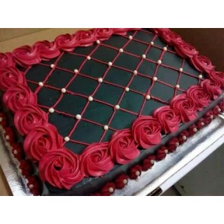 Rose and Chocolate Cake