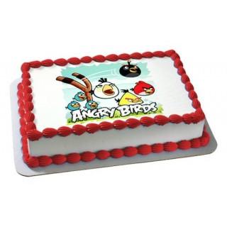Angry Bird Photo Print Cake
