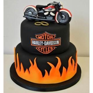 Harley Davidson Fondant Cake