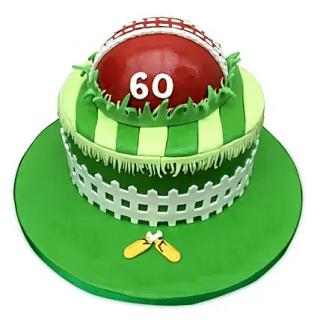 Cricket Fever Cake (Fondant)