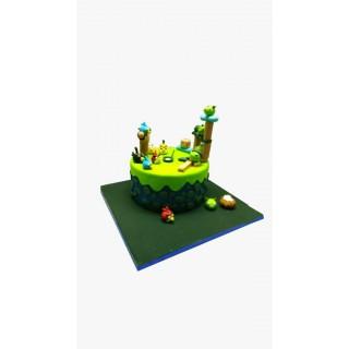 Angry Bird Theme  Fondant Cake