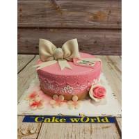 Pink Gift Box Fondant Cake