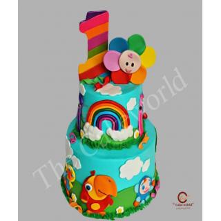 Rainbow Color Theme Cake