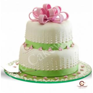 Two tier fondant cake
