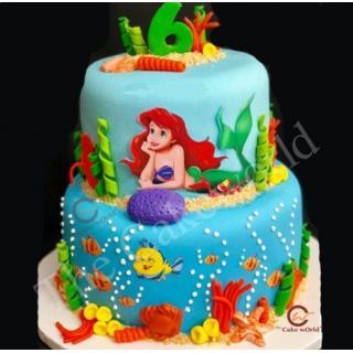 Fondant Aqua Life Cake