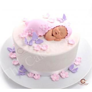 Cute baby fondant cake