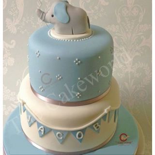 Elephant theme cake two