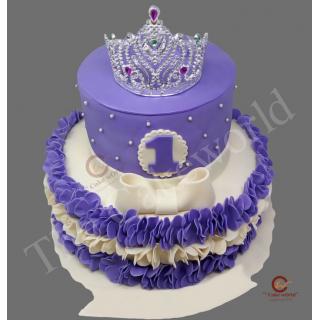 Purple bay fondant cake
