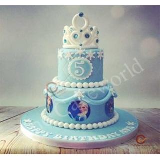 Frozen Elsa theme cake