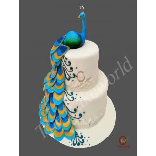 Peacock Fondant Cake